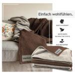 """Kuscheldecke """"Vollkommen"""" – Haselnuss-Braun/Sandweiß – 145 x 210 cm"""