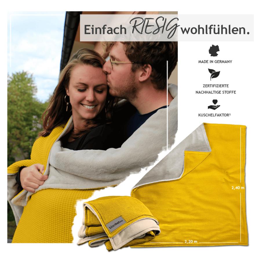 xxl kuscheldecke in gelb