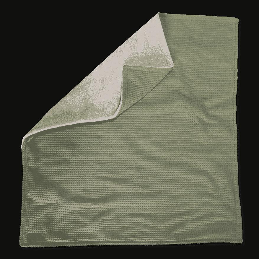 kuscheldecke in xxl in oliv und sandweiss