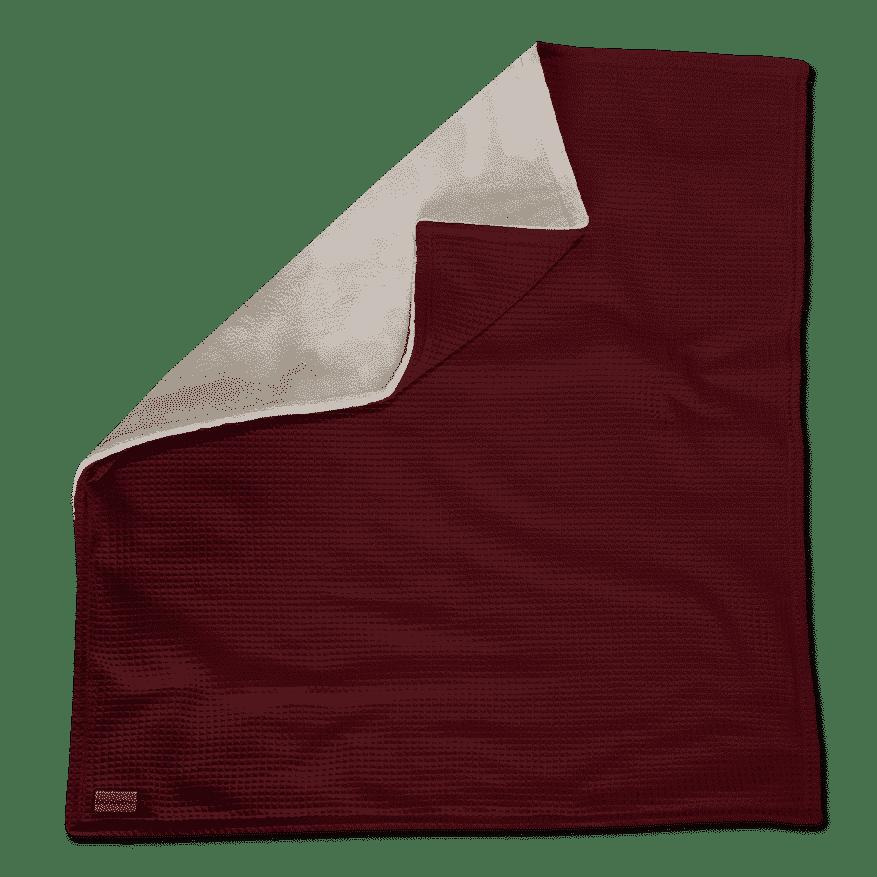 """Kuscheldecke XXL """"Vollkommen"""" – Weinrot/Sandweiß – 220 x 240 cm"""