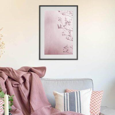 "Poster mit Rahmen ""Farbenfrohe Natur"" 30 x 40 cm"