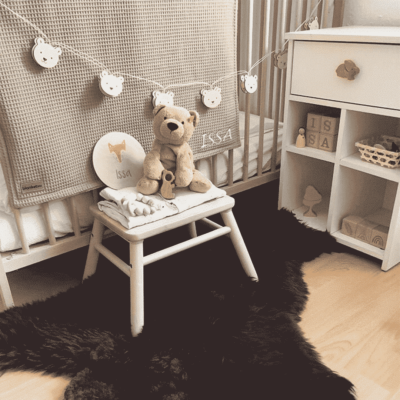 Babydecken in versch. Farben   Bestickung mit Namen möglich – 70 x 100 cm