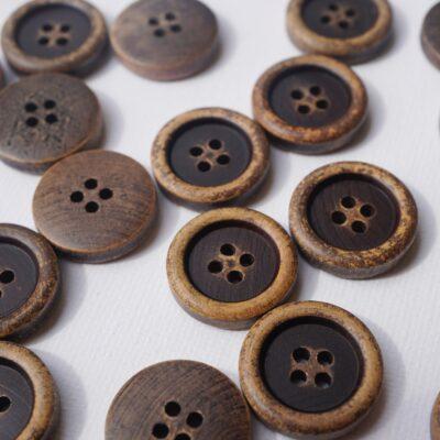 Holzknöpfe (Braun) – 20mm